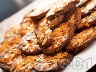 Рецепта Какаови бисквити с фъстъчено масло и бадеми